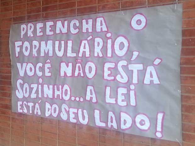 Centro acadêmico estimula que alunos de direito preencham formulário que controla faltas de professores (Foto: Raquel Morais/G1)