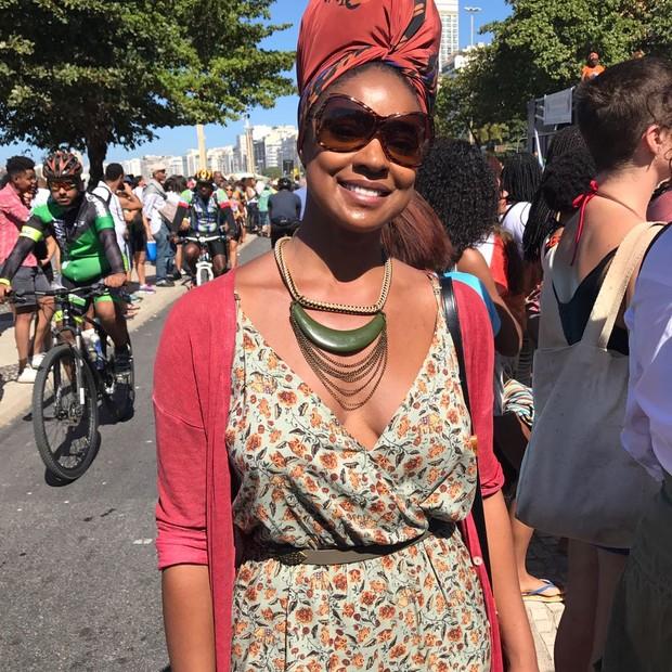 Cris Vianna na Marcha das Mulheres Negras (Foto: Julia Pitaluga)