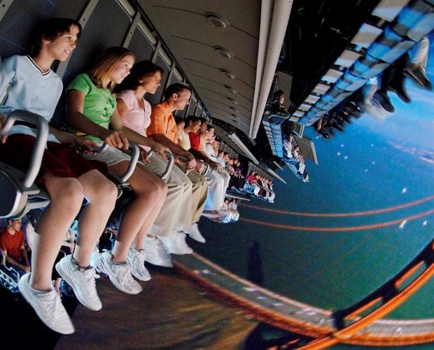 O Soarin' simula um voo de asa-delta pela Califórnia (Foto: Divulgação/Walt Disney World)