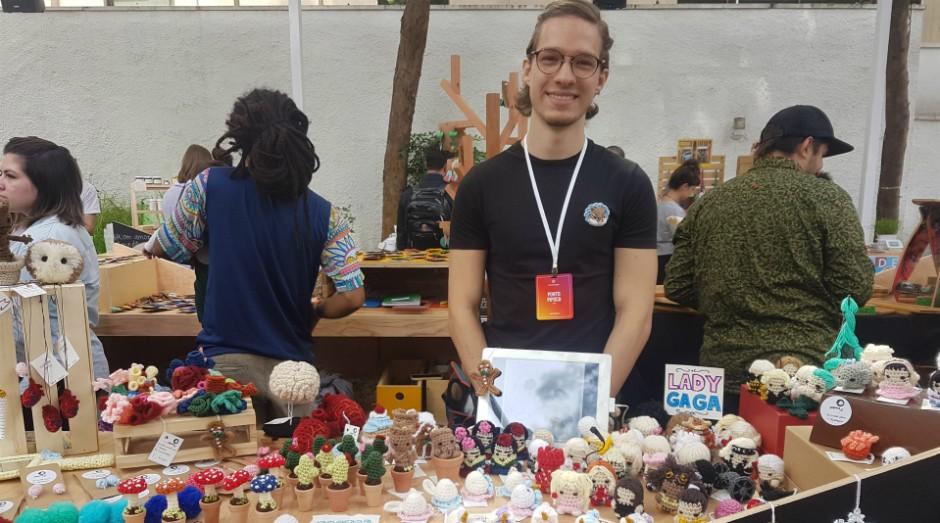 Ponto Pipoca, Paulo Samu, crochê (Foto: Débora Duarte)
