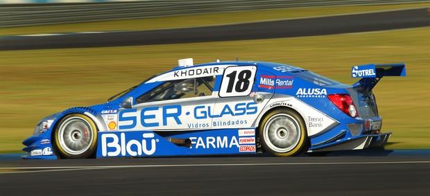 Stock Car - Allam Khodair, da equipe Vogel, em Curitiba (Foto: Luca Bassani/ Divulgação)