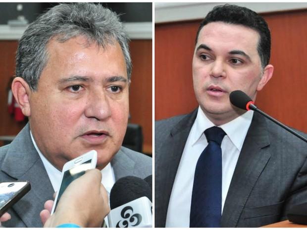 Os deputados Chico Guerra e Jalser Renier (Foto: Charles Wellington/Ascom ALE)