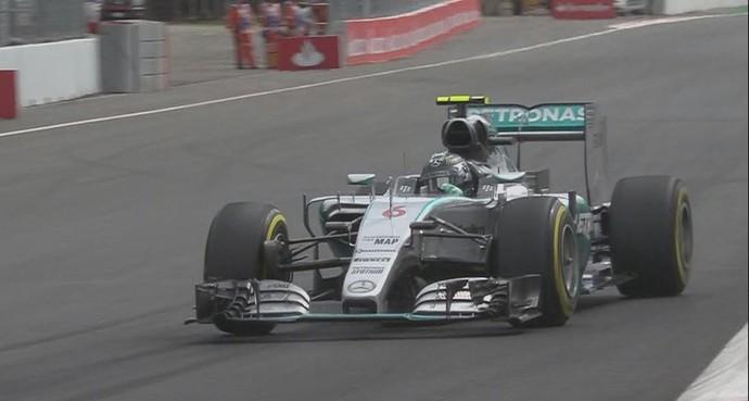 Nico Rosberg em ação no 3º treino livre para o GP do México (Foto: Divulgação)