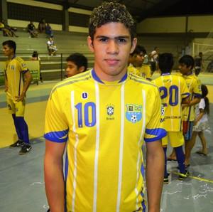 Artilheiro da Taça Roraima Sub-17, o fixo Andrio Ribeiro, com 19 gols (Foto: Tércio Neto/GloboEsporte.com)