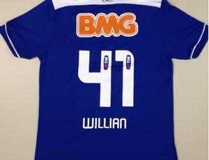 Foto da camisa do Cruzeiro com o número 41, que Willian vai usar (Foto: Reprodução / Instagram)