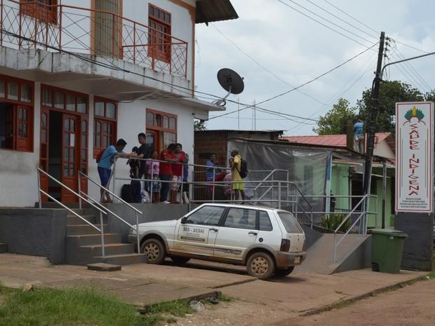 Índios foram diagnosticados na sede de Oiapoque, no Amapá (Foto: Abinoan Santiago/G1)
