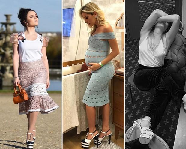 Larissa Manoela, Adriana SantAnna e Cate Blanchett com o it-shoe (Foto: Reprodução / Instagram)