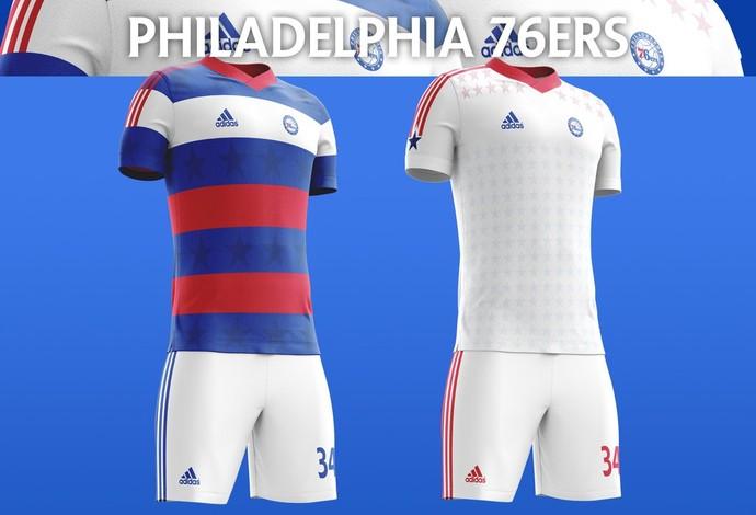 bc6d41183a4ac Designer do Canadá ''cria'' uniformes de futebol para times da NBA  veja