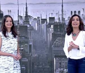 Dra. Sabrina e Fátima conversam no palco do Encontro (Foto: TV Globo)