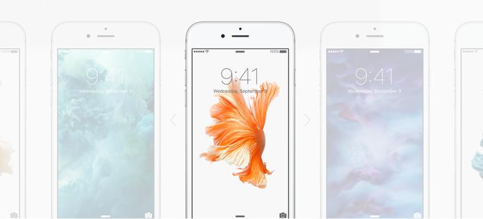 iPhone 6S e 6S Plus são os únicos aparelhos equipados com o 3D Touch e papéis de paredes animados (Foto: Reprodução/Apple)