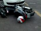 Acidente entre carro e moto deixa bombeiro ferido em Lins