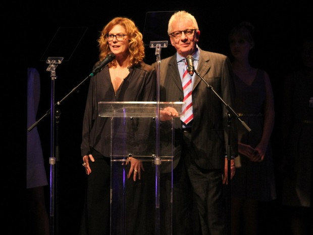 Patrícia Pillar e Marco Nanini em prêmio de teatro na Zona Norte do Rio (Foto: Anderson Borde/ Ag. News)