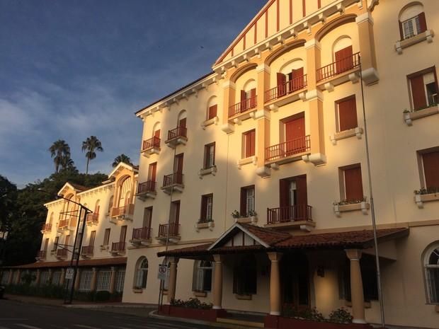 Palace Hotel, em Poços de Caldas (MG) (Foto: Lúcia Ribeiro/G1)