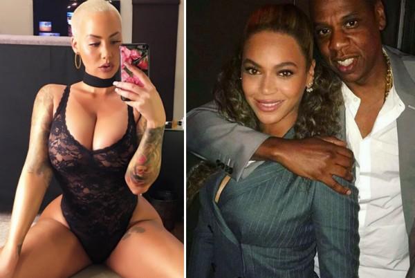 Amber Rose, Beyoncé e Jay-Z (Foto: Instagram)