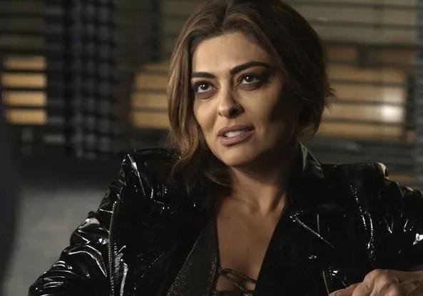 Juliana Paes como Bibi Perigosa em A força do querer: 54 milhões de telespectadores assistiram à prisão da personagem (Foto: Reprodução/ TV Globo)