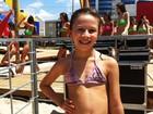 'Quero ser Garota Verão', diz menina de 9 anos ao ver ensaio do concurso