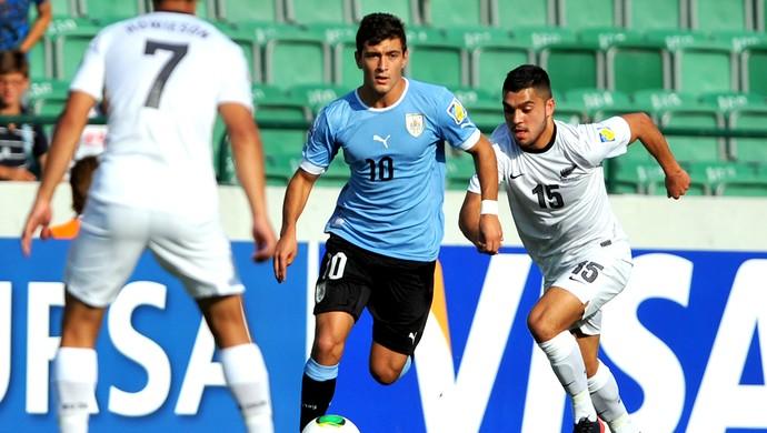 Da Arrascaeta na partida do Uruguai (Foto: AFP)