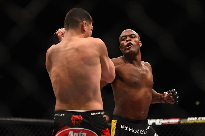 Anderson Silva x Nick Diaz, UFC 183 (Foto: Getty Images)