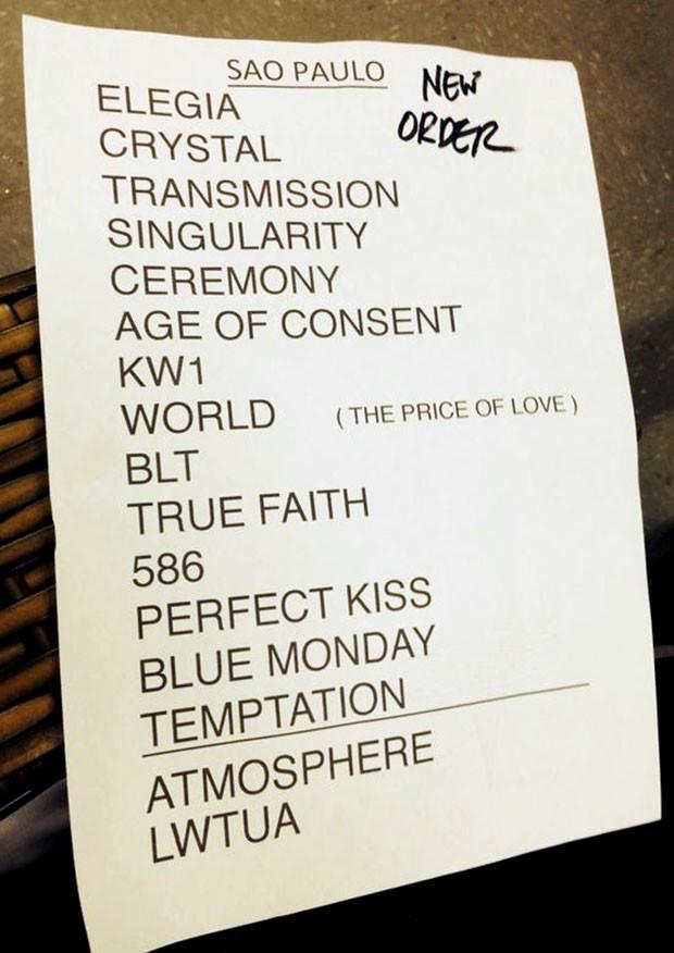 Setlist New Order (Foto: Multishow)