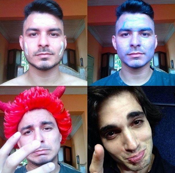 Make up transformation - Fiuk (Foto: Twitter/Reprodução)