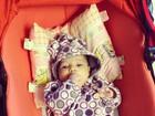 Fernando Scherer registra evolução da filha recém-nascida
