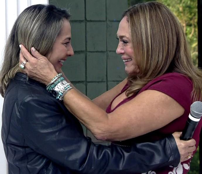 Susana Vieira encontrou Francineide no estúdio do 'Vídeo Show' (Foto: TV Globo)