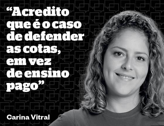 Debates Carina Vitral (Foto: Julia Rodrigues/Ed. Globo)