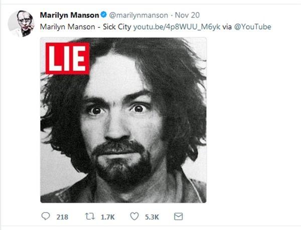 Marilyn Manson (Foto: Twitter)