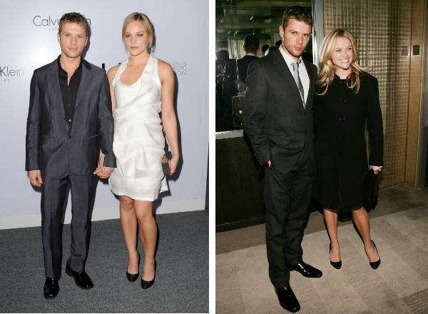 O ator Ryan Phillippe com Abbie Cornish e Reese Witherspoon (Foto: Getty Images)