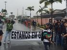 Funcionários do estaleiro Brasfels, em Angra dos Reis, entram em greve