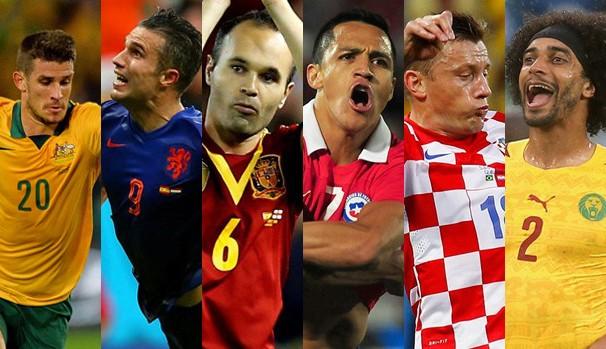 As seleções que se enfrentam na quarta, dia 18 de junho, pela fase de grupos da Copa do Mundo (Foto: Divulgação FIFA / Getty Images)
