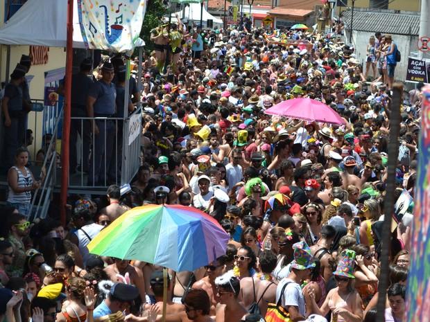 Ao menos 30 mil foliões se divertiram no Carnaval de São Luiz do Paraitinga nesta terça-feira (9) (Foto: Filipe Rodrigues/ G1)