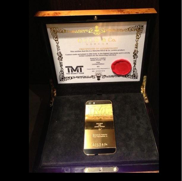 iphone de ouro floyd mayweather boxe presente (Foto: Reprodução/Instagram)