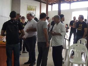 Policiais federais paralisam atividades em Salvador, Bahia (Foto: Lílian Marques/ G1)