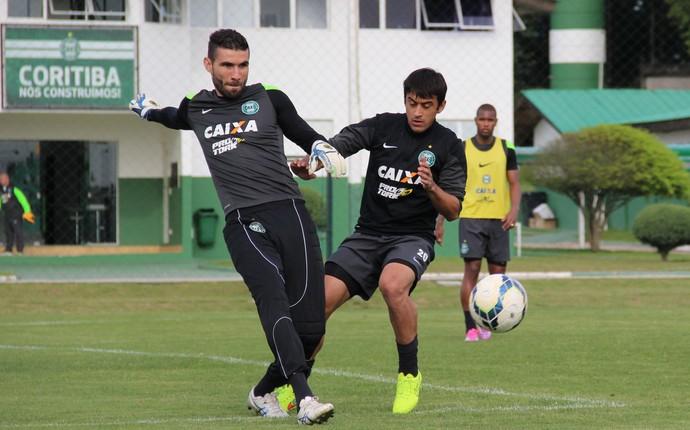 Robinho e Vanderlei treino Coritiba (Foto: Divulgação Coritiba)
