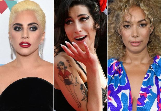 Lady Gaga, Amy Winehouse e Leona Lewis (Foto: Getty Images)