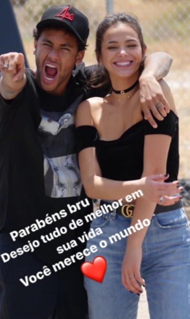Homenagem de Neymar para Bruna Marquezine (Foto: Reprodução/Instagram)
