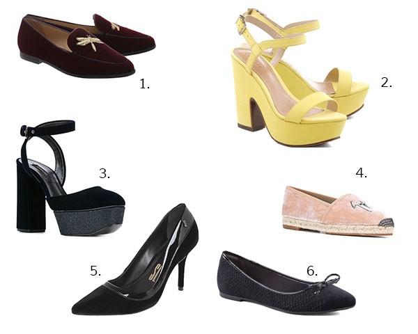Opções incíveis de sapatos de veludo (Foto: Imaxtree)