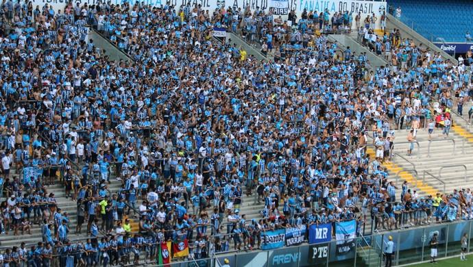 Torcida Grêmio x Danubio (Foto: Eduardo Moura/GloboEsporte.com)