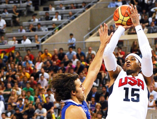 Carmelo Anthony, Basquete, Estados Unidos x Espanha (Foto: Ag&#234;ncia Getty Images)