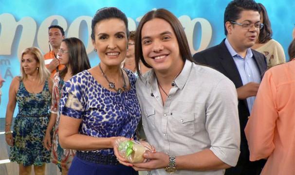 Wesley Safadão no programa Econtro com Fátima Bernardes (Foto: Globo/Divulgação)