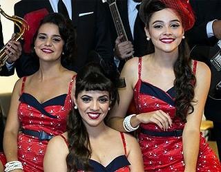 Clusters Sisters e Paulo Vitor (Foto: Camila Serejo / TV Globo)