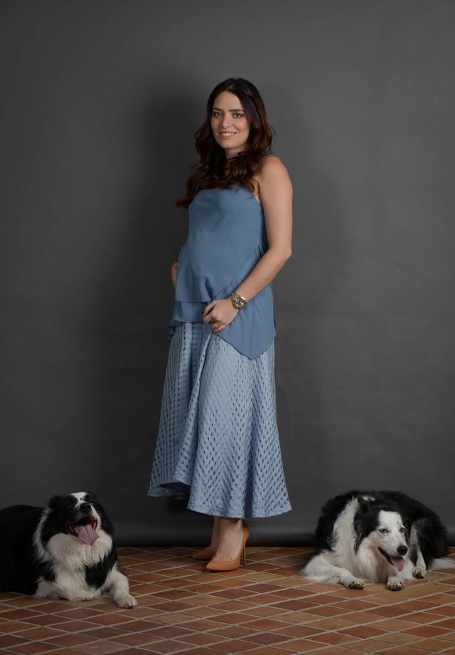 Kika Simonsen grávida do Ronnie (Foto: Rodrigo Zorzi/Divulgação)