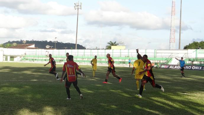 Aldo comemora gol do Sport diante do Sete de Setembro (Foto: Denison Roma / GloboEsporte.com)