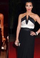 Kim Kardashian usa vestido dos anos 1980 que pertenceu à sua mãe