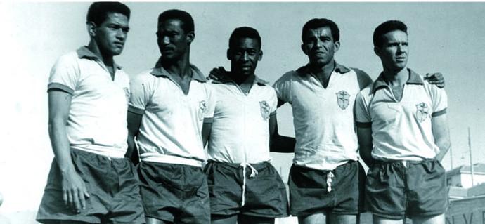 Garrincha, Didi, Pelé, Vavá e Zagallo em 1962 (Foto: Divulgação)