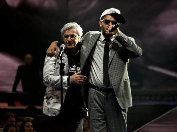 Caetano Veloso e Emicida (Foto: Thiago Facina)