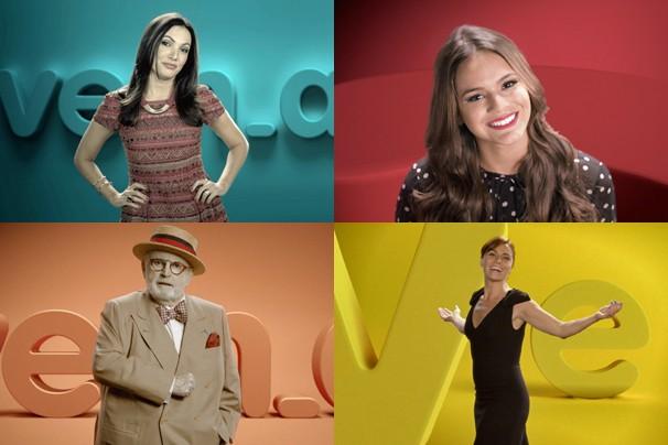 Patrícia Poeta, Bruna Marquezine, Jô Soares e Giovanna Antonelli estrelam filmes do vem_aí, no ar na programação (Foto: Globo)