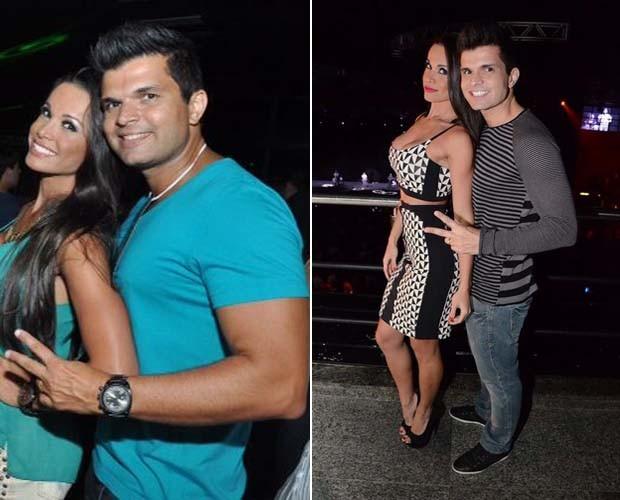 Fernanda D'ávila e o marido Marcus Júnior mais enxuto no lado direito da foto. (Foto: Arquivo pessoal)