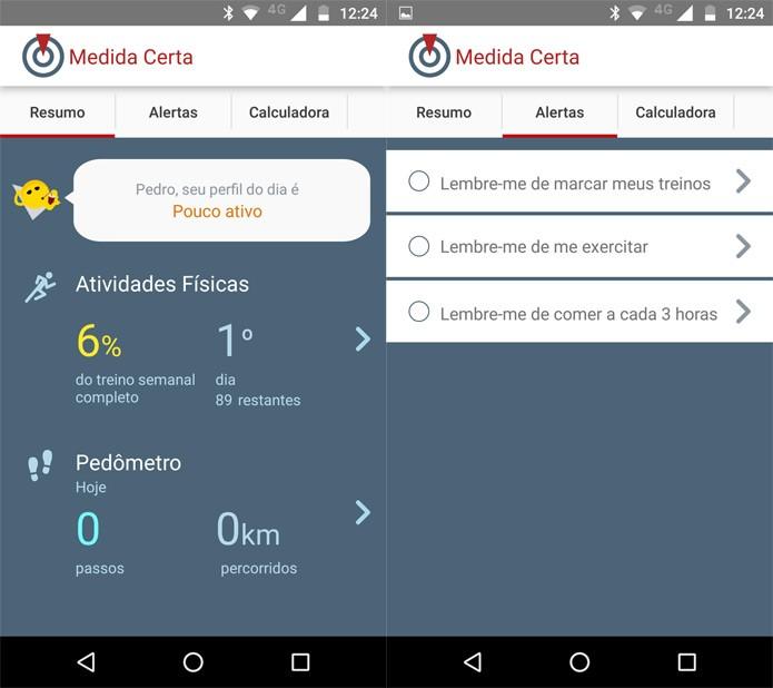 App da TV Globo, do programa Medida Certa (Foto: Reprodução)